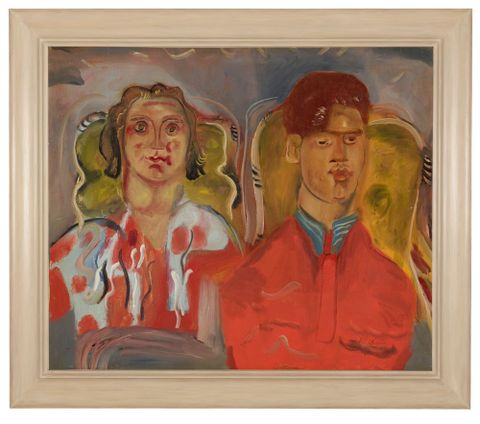 1967-0006-1; Double portrait No. 2 (Katharine and Anthony West); 1937; Hodgkins, Frances (image/tiff)