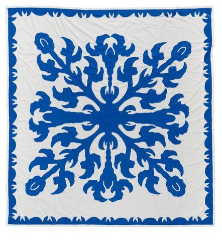 Nina Tonga talks about a tīvaevae manu (appliqué quilt)