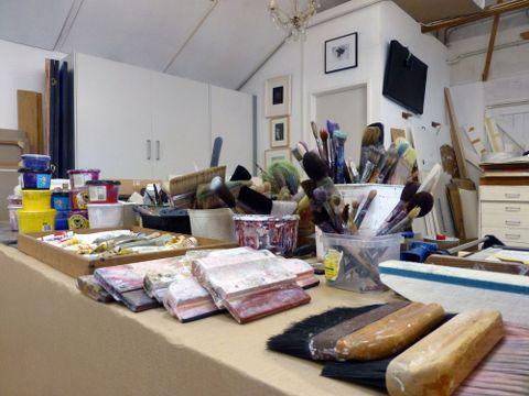 Gretchen Albrecht's Auckland home studio. Photograph courtesy Gretchen Albrecht