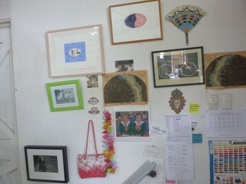 Gretchen Albrecht's Auckland home studio. Photograph by Mary Kisler