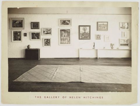 CA000124/001/0055; Photograph: Interior of The Gallery of Helen Hitchings; Undated; Unknown ; Recto (image/tiff)