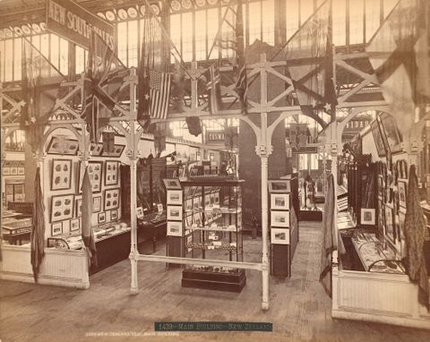 Centennial Photographic Co., <EM>New Zealand Section – Main Building</EM>, Philadelphia Centennial Exhibition 1876, 1876, silver albumen print.