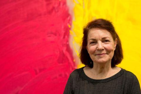Gretchen Albrecht's artist talk at Te Papa, June 2015. Photograph by Michael Hall, Te Papa