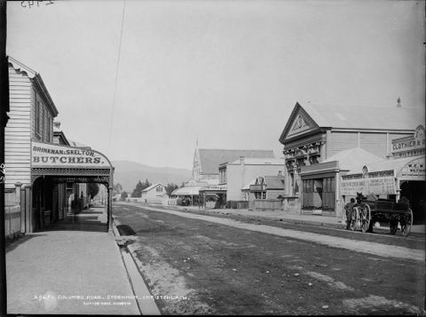 C.011526; Colombo Road, Sydenham, Christchurch; Burton Brothers (image/tiff)