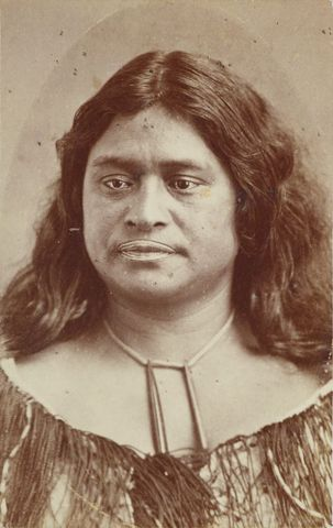 "Davis and Co, <EM>Unaiki Whareangiangi Pukeh</EM>i, 1850-85, black and white photograph, carte-de-visite  <A href=""http://collections.tepapa.govt.nz/object/1432297"">Full object info is available on collections.tepapa.govt.nz</A>"