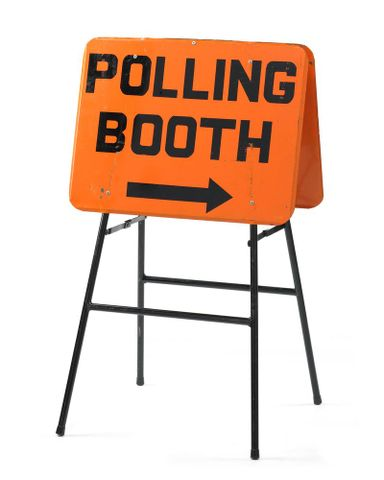 Sign, 'Polling Booth'