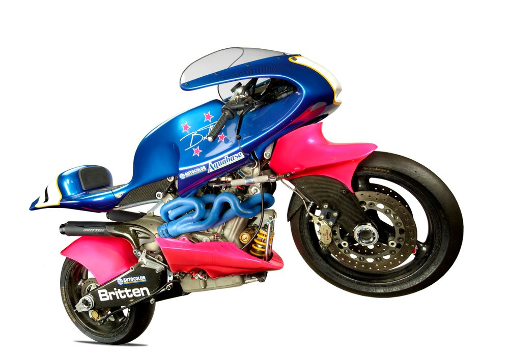 T000649; Britten V1000 motorcycle; 1992; Britten Motorcycle Company Ltd ; Right; Side; view 03