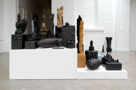 Graham Fletcher, <EM>Untitled</EM>, from 'Lounge room tribalism', 2006–09, mixed media, 1580 x 900 x variable height. Photograph by Alex North