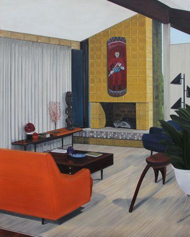 Graham Fletcher, <EM>Untitled</EM>, from 'Lounge room tribalism', 2011, oil on canvas, 1000 x 1250 mm