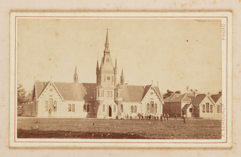 O.043694; Church. From the album: Panorama of Christchurch NZ, from Cathedral Tower; unknown; Schourup, Peter Niels (image/tiff)