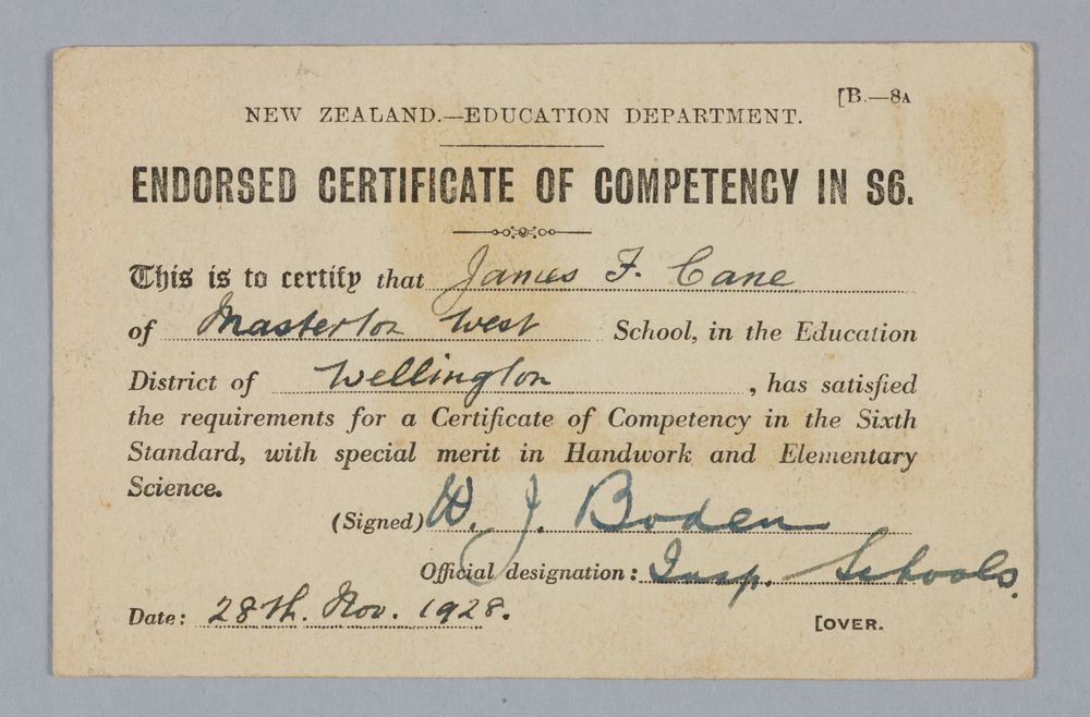 Endorsed Certificate Of Competency In S6 Collections Online