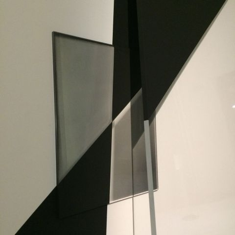 Andrew Beck, <em>Double Screen</em>, installation detail from <em>Emanations: The Art of the Cameraless Photograph</em>,  29 Apr – 14 Aug 2016. Len Lye Centre at the Govett-Brewster Art Gallery