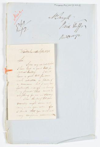 MU000094 001 0402 About Bird Stuffing And Employment 12 September 1872