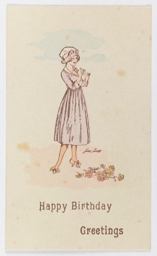 Card happy birthday greetings collections online museum of gh022225 card happy birthday greetings 1916 1918 unknown m4hsunfo