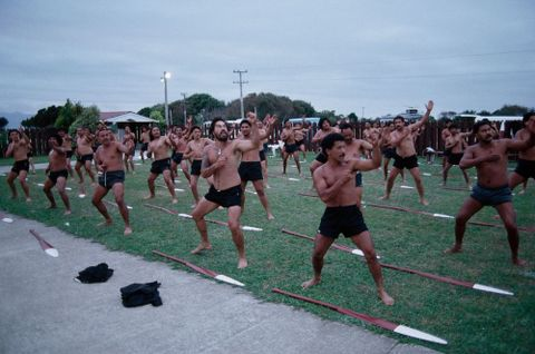 Men performing a haka