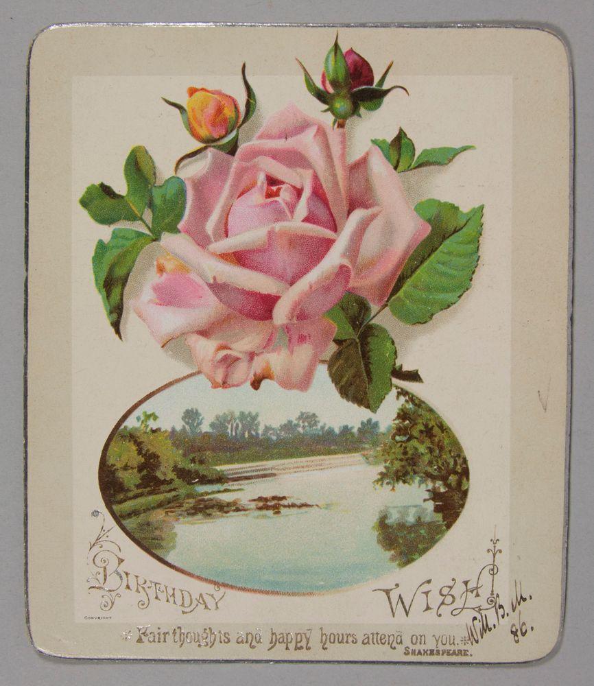 GH002290 7 Birthday Card Circa 1886