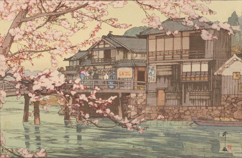2016-0008-57; Tea house at Hayase; 1930; Japanese; Yoshida, Hiroshi ; view 1
