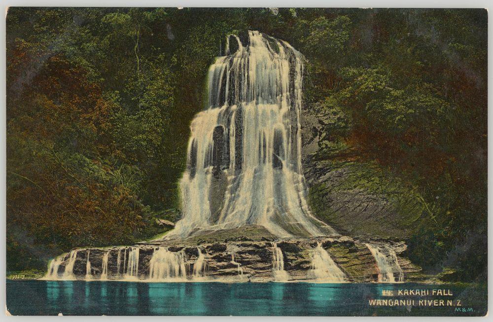 PS.000967/01; Kakahi Fall, Wanganui River, New Zealand; Muir & Moodie studio ; view 1