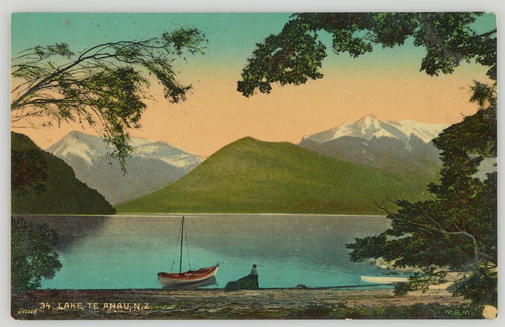 PS.000969/01; Lake Te Anau, New Zealand; 1904-1915; Muir & Moodie studio ; view 1