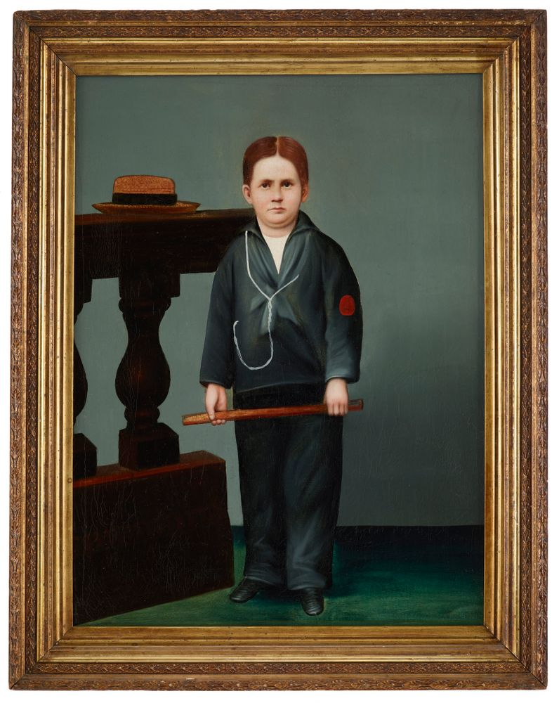 1000-0000-9; Portrait of a boy with double chin; after 1880; Unknown ; view 3