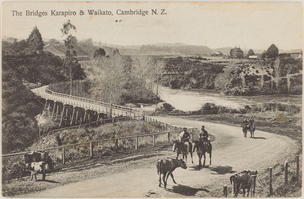 PS.001937; The Bridges Karapiro and Waikato, Cambridge, New Zealand; 1904-1915; Muir & Moodie studio ; view 1