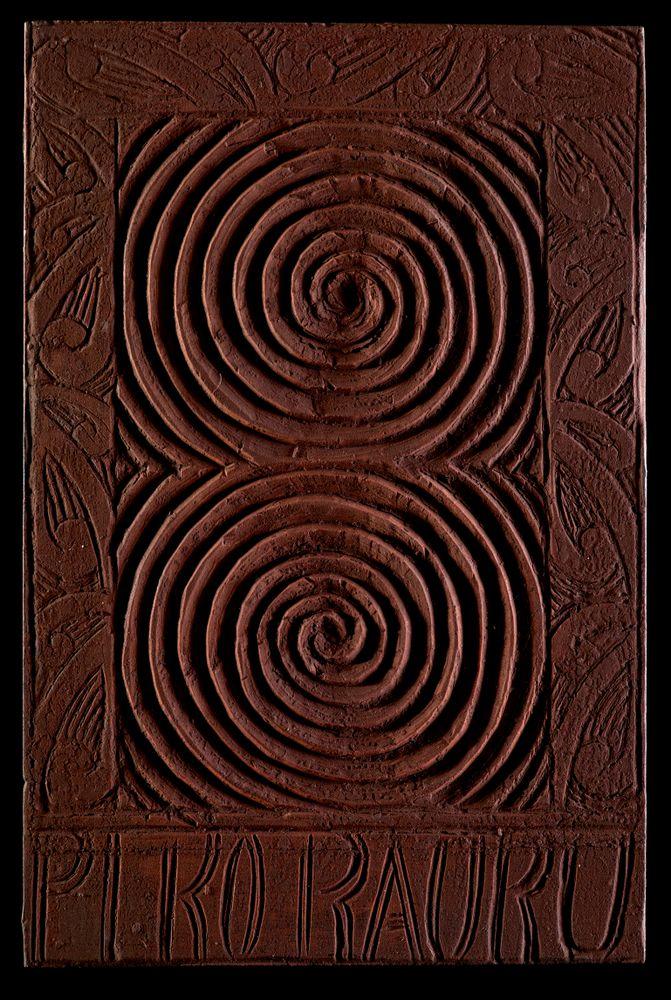 ME024168/10; Tauira (He Piko-o-Rauru carving pattern); 1909; Ngāti Tarāwhai; Te Rahui, Anaha ; view 1
