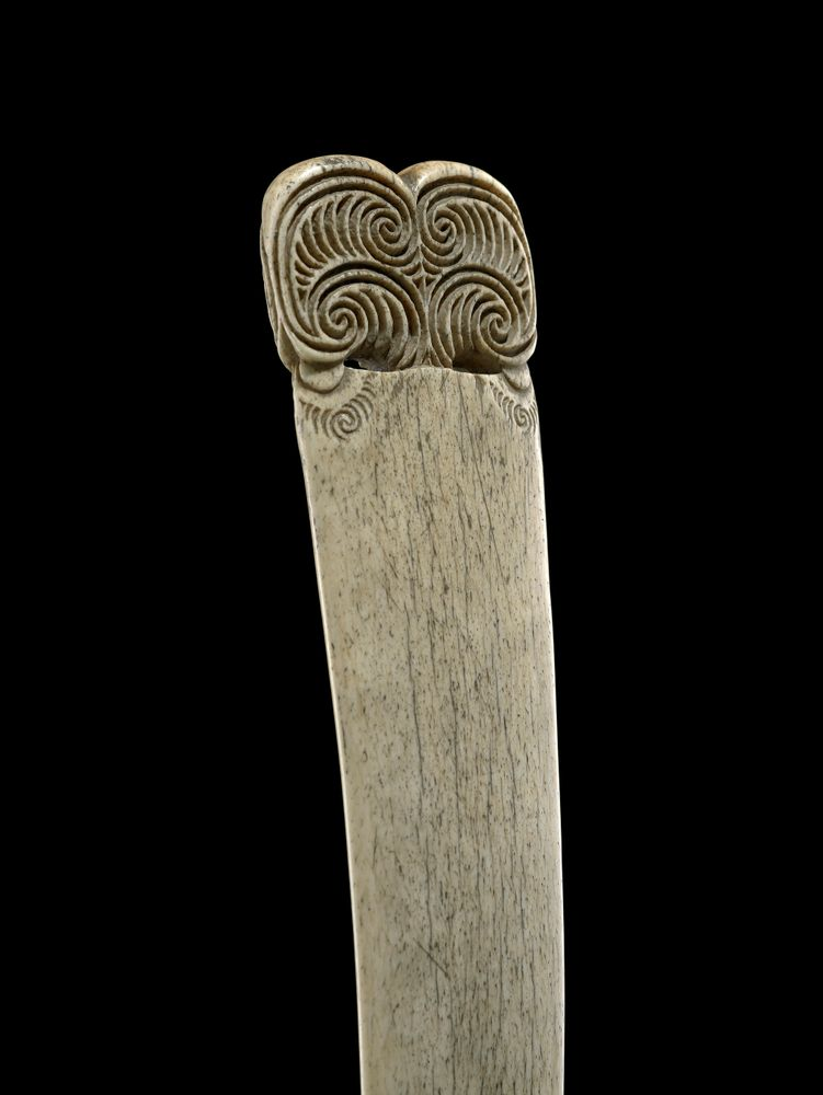 Hoeroa Whale Bone Weapon Collections Online Museum Of New Zealand Te Papa Tongarewa