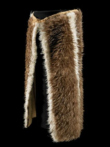 ME001378; Kahu kiwi (feather cloak); 1800-1900; Unknown ; view 2 (image/tiff)