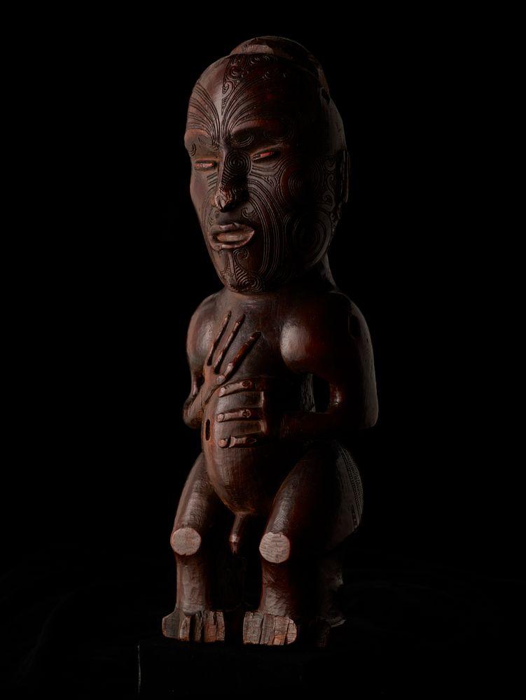 OL000148; Pou whakairo (freestanding carved figure); circa 1840; Te Tai Rawhiti; Unknown; view 12