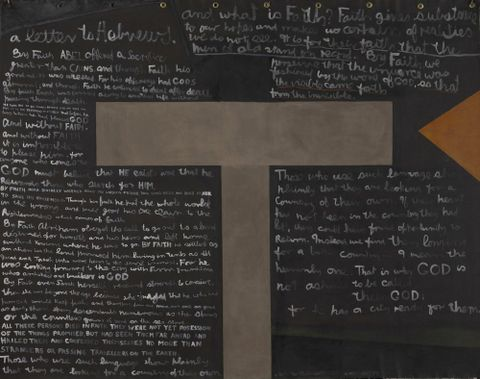 1981-0004-1; A Letter to Hebrews; 1979; McCahon, Colin ; without frame (image/jpeg)