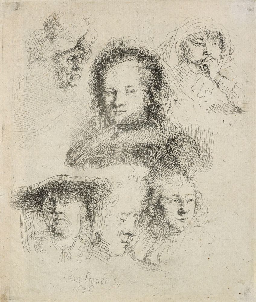 Studies Of The Head Of Saskia And Others Collections Online