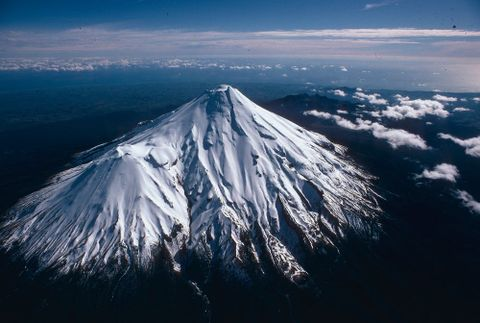 CT.029427; New Zealand Scenery: Mount Taranaki; 1960 s - 1980 s; Brake, Brian (image/tiff)