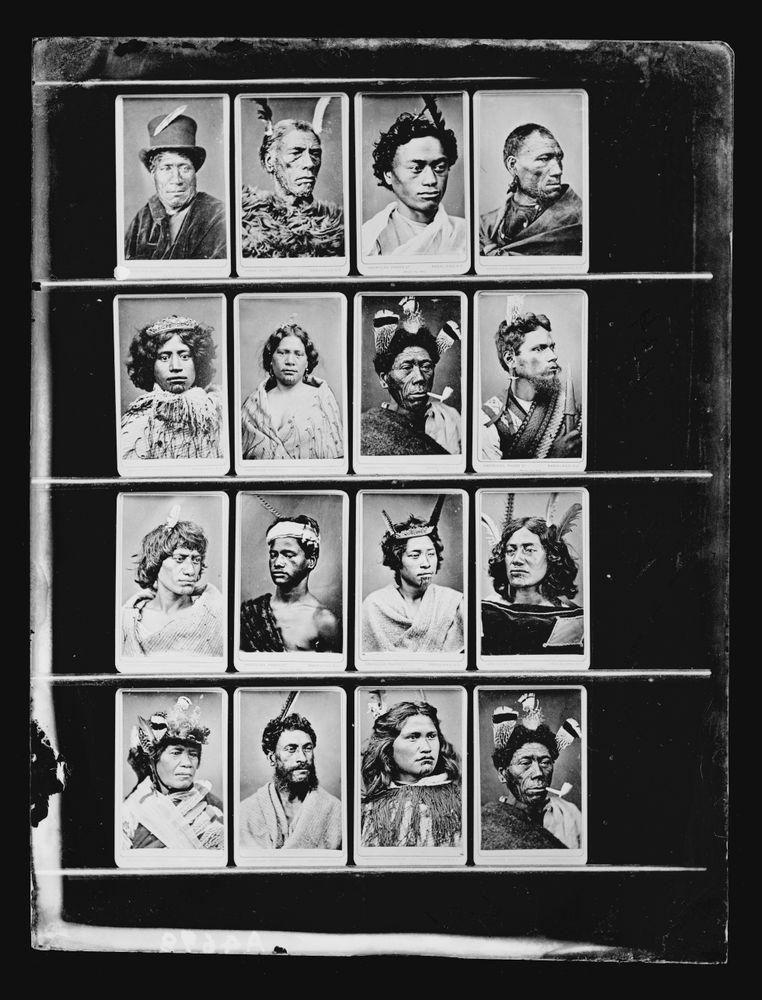 A004698 Copy Of 16 Carte De Visite Maori Portraits