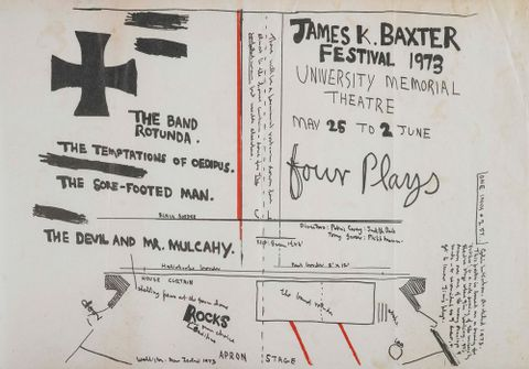 Poster for 'James K. Baxter Festival 1973: Four Plays'