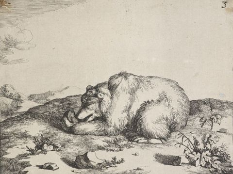 The set of the bears. Untitled plate 3