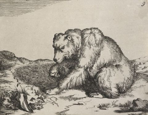 1869-0001-69; The set of the bears. Untitled.; 1664; de Bye, Marcus; without frame (image/jpeg)