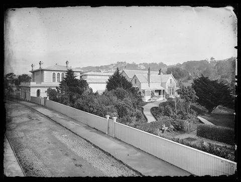 Colonial Museum, c1880, Wellington. By James Bragge, black and white collodion glass negative. Purchased 1955. D.000014; Te Papa