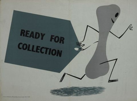 GH015045; Poster, 'Ready for collection'; circa 1943; H. Manly & Son Ltd. (image/jpeg)