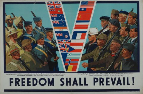 Poster, 'Freedom Shall Prevail!'