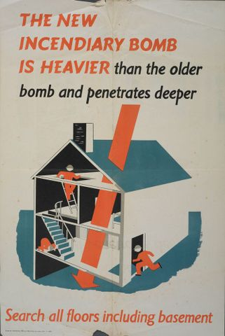 GH014970; Poster, 'The New Incendiary Bomb Is Heavier'; circa 1942; H. Manly & Son Ltd. (image/jpeg)