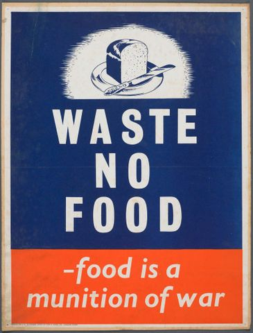 GH015161; Poster, 'Waste no food'; Early 1940s; Fosh & Cross Ltd. (image/jpeg)
