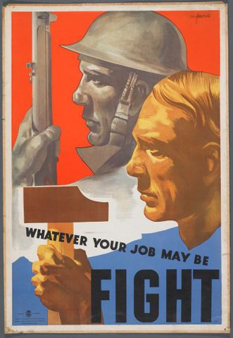 GH014920; Poster, 'Whatever your job may be'; Early 1940s; Aldwinkle, Eric (image/jpeg)