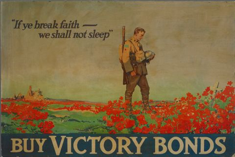 "GH014067; Poster, ""If ye break faith - we shall not sleep""; 1918; Unknown (image/jpeg)"