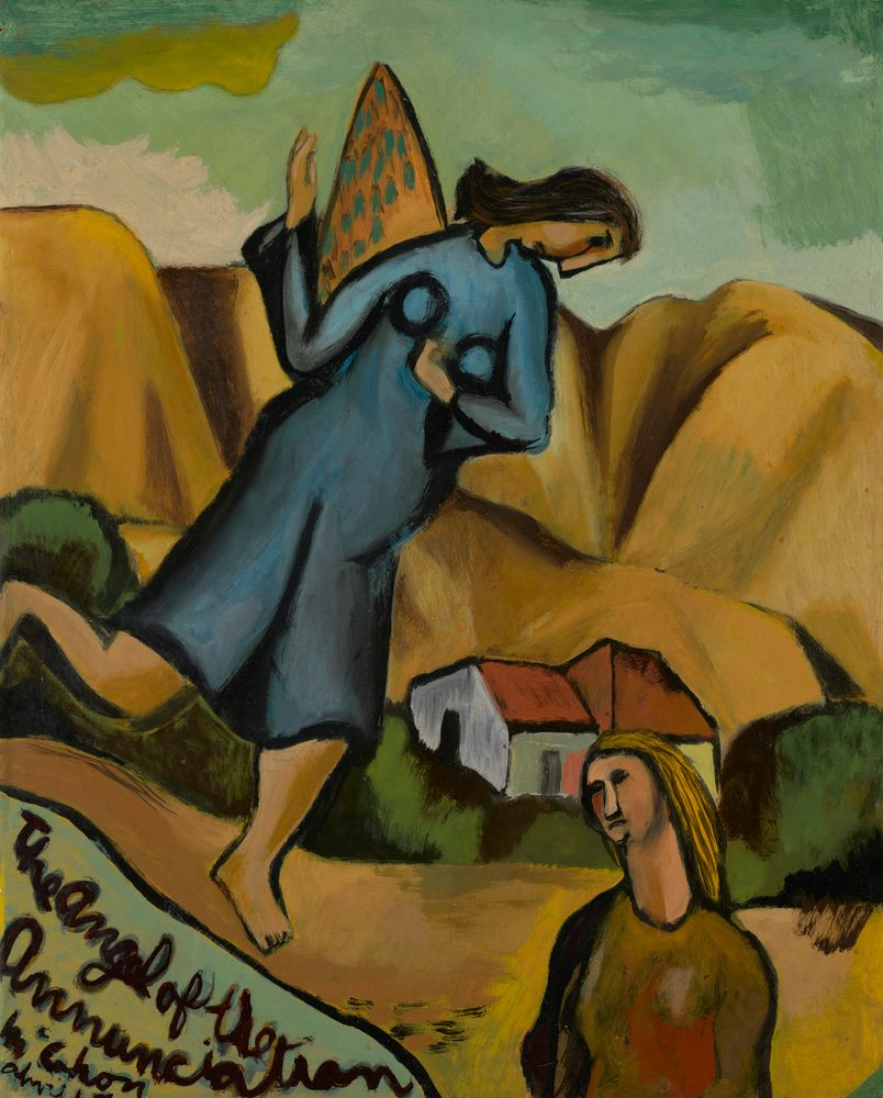 1980-0008-3; The Angel of the Annunciation; 1947; McCahon, Colin ; view 2