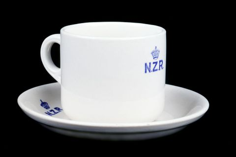 New Zealand Railways cup and saucer