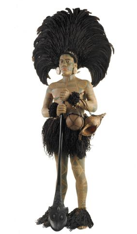 FE012002; Marquesan warrior model ; view 32 (image/tiff)