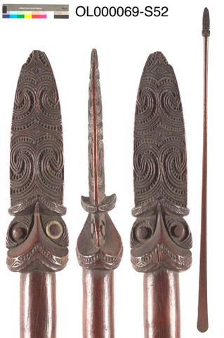 OL000069.S/65; Taiaha (long fighting staff); 1800; Unknown (image/tiff)