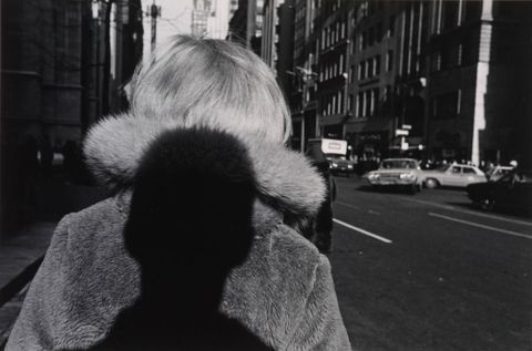 Shadow, New York City. From the portfolio: 15 Photographs by Lee Friedlander