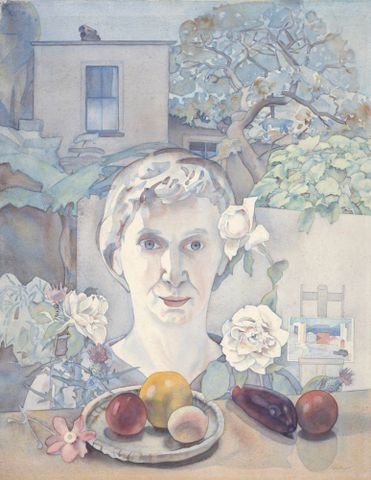 Self-portrait with fruit