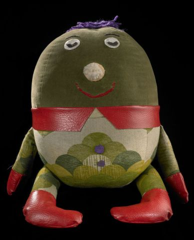 "GH014510; Stuffed toy (""Humpty""); circa 1970; unknown ; view 1 (image/tiff)"